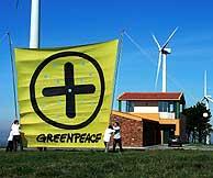 Greenpeace se ha manifestado en varias ocasiones a favor de las energías renovables. (Foto:P. Armestre)