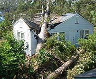 La casa de la playa, destrozada.
