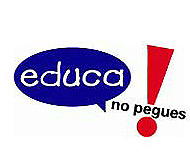 Logotipo de la Campaña de Save the Children 'Educa, no pegues'.