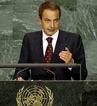 Zapatero ha centrado su intervención en la ayuda al desarrollo. (Foto:EFE)