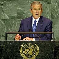 Bush durante su discurso en la ONU. (Foto: EFE)