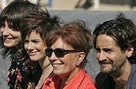 Barbara Lennie, Pilar López de Ayala, Merecedes Samprieto y Juan Diego Botto. (Foto: AP)