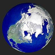 Imagen del polo norte desde el espacio. (Foto: AP)