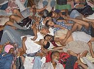 Los presos de la Cárcel Negra de El Aiún sobreviven hacinados en las celdas. (Foto: elmundo.es)