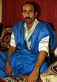 Brahim Noumbria, uno de los presos en huelga. (Foto: Leonardo Faccio)