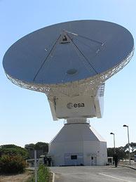 La antena de Cebreros, en Ávila. (Foto: O. C.)