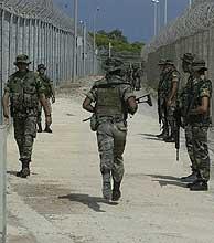 Despliegue de legionarios en Melilla. (Alberto Cuéllar) VEA MÁS IMÁGENES