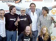 Parte del elenco de artistas de 'Torrente 3'. (Foto: José Ayma)