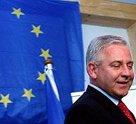 El primer ministro croata, Ivo Sanader, en la sede de la UE. (Foto: EFE)