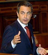José Luis Rodríguez Zapatero, en el Congreso. (Foto: EFE)
