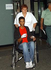 El detenido en el hospital al que fue trasladado. (Foto: EFE)