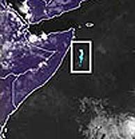 El mar fosforescente, frente a las costas de Somalia.
