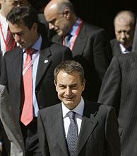 Rodríguez Zapatero, en Salamanca. (Foto: AP)