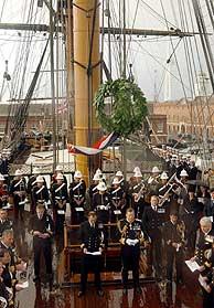 Reino Unido también está conmemorando en Portsmouth el bicentenario. (Foto: AP)