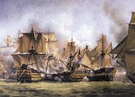 La 'Batalla de Trafalgar' según L.P. Crépin. (Foto: EL MUNDO)