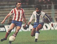 El legendario Quini, cinco veces máximo goleador de la Liga Española.