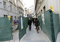 Una calle de Madrid en obras. (Foto: EL MUNDO)