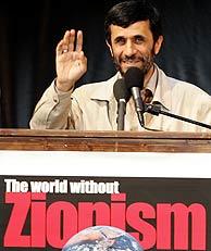El presidente de Irán, durante su discurso 'El mundo sin sionismo', en Teherán. (Foto: AFP)