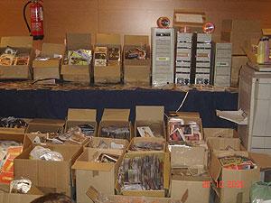 Material incautado por la Policía. (Foto: CNP):