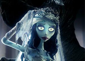 La Novia Cadáver, inspirada en la actriz Helena Bonham Carter, esposa de Tim Burton.