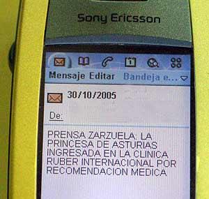 El primer mensaje que envió Zarzuela a los periodistas. (Foto: elmundo.es)
