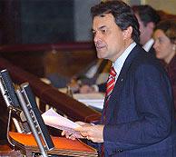 Artur Mas, durante su intervención. (EFE)