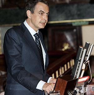 José Luis Rodríguez Zapatero, durante su intervención. (Foto: EFE)