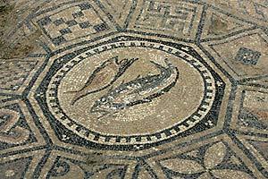 Mosaicos hallados en las excavaciones. (Foto: REUTERS)