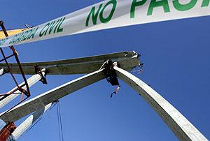 Viaducto en el que se produjo el accidente. (Foto: AFP)
