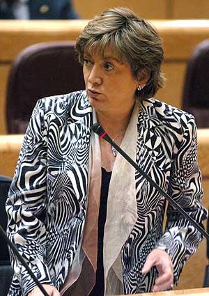 La ministra de Educación y Ciencia, María Jesús San Segundo. (Foto: EFE)