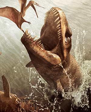 Reconstrucción del animal marino publicada en National Geographic. (Foto: REUTERS)