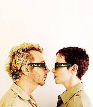 Los dos integrantes de Eurythmics. (Foto: EFE)