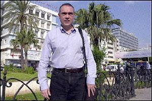 El periodista, en Túnez, el pasado 12 de noviembre. (Foto: TV5)