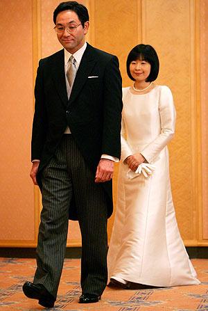 La princesa Sayako, con su marido, Yoshiki Kuroda. (Foto: AP)