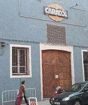 Imagen del precinto de la sala Caracol en 2001. (Díaz)