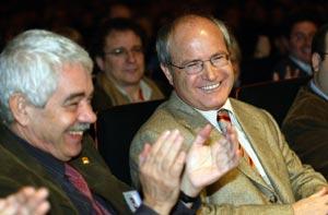 José Montilla junto a Pasqual Maragall. (Foto: EL MUNDO)