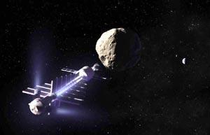 Reconstrucción de un sistema para prevenir el impacto de un asteroide.
