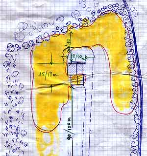 Plano de la finca dibujado por el confidente. (Foto: EL MUNDO TV)