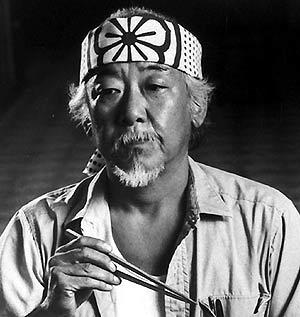 Pat Morita, en en una foto de 1986. (Foto: AP)