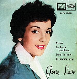 Portada de uno de los discos de Gloria Lasso. (Foto: Bernardo Díaz)