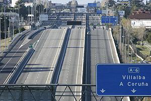 Imagen de la A6, a la altura del kilómetro 16. (Foto: Diego Sinova) VEA MÁS IMÁGENES