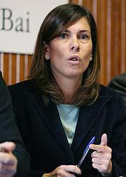 Uxue Barcos, candidata al 'Parlamentario revelación'. (Foto: EFE)