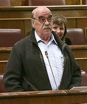 José Antonio Labordeta, candidato al 'Azote de la oposición'. (Foto: EFE)