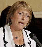 Michelle Bachelet. (EFE)