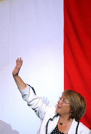 Michelle Bachelet, durante el cierre de campaña. (EFE)