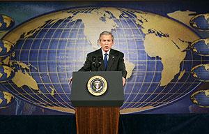 Bush, durante su discurso. (Foto: REUTERS)
