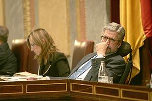 Marín, ayer, durante la sesión de control del Congreso. (J. Martínez)