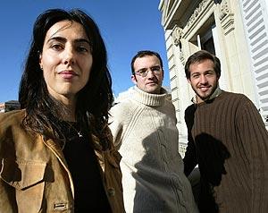 Vaquerizo(centro), Lanseros y Meseguer. (Foto: EFE)