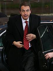 Zapatero, a su llegada a Bruselas. (Foto: REUTERS)