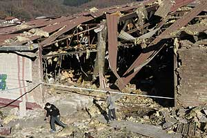 La discoteca Bordatxo , tras el atentado. (Foto: Mitxi)